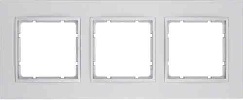 Рамка тройная B.7 пластик алюминий 10136424