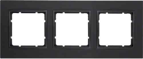 Рамка тройная B.7 пластик антрацит 10136626