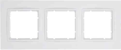 Рамка тройная B.7 полярная белизна матовый 10136919