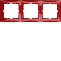 Рамка тройная S.1 красный глянцевый 10138962, , Гарантия:: 12 месяцев, Цвет:: Красный, Тип товара:: Рамка, Единицы измерения:: шт