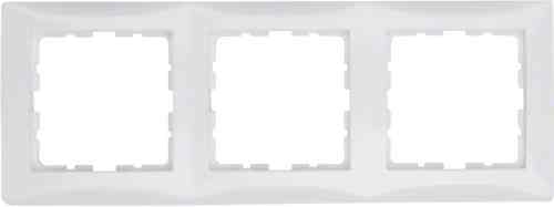 Рамка тройная S.1 полярная белизна с блеском 10138989