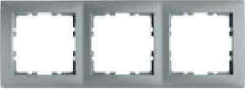 Рамка тройная S.1 пластик алюминий 10139939
