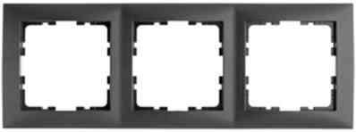 Рамка тройная S.1 пластик антрацит 10139949