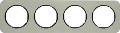 Рамка 4 местная нержавеющая сталь, Berker R1, 10142104