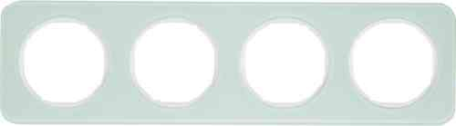 Рамка 4 местная стекляная, Berker R1, полярный белый, 10142109