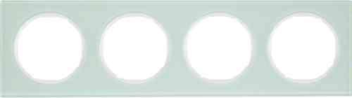 Рамка 4 местная стекляная, Berker R3, 10142209