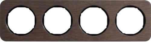 Рамка четверная R1, дерево черная вкладка, 10142354