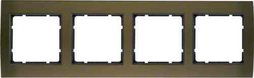 Рамкa четверная B.3, алюминевая, коричневый/антрацит 10143001
