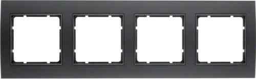 Рамкa четверная B.3, алюминевая, черный/антрацит 10143005
