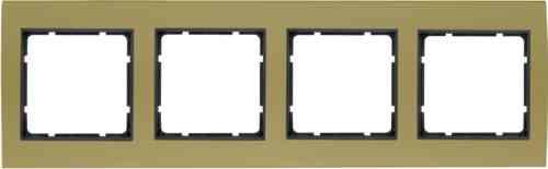 Рамкa четверная B.3, алюминевая, золото/антрацит 10143016