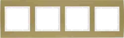 Рамкa четверная B.3, алюминевая, золото/полярная белизна 10143046