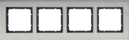 Рамка четверная вертикальная B.7 металл нержавеющая сталь, антрацит 10143606