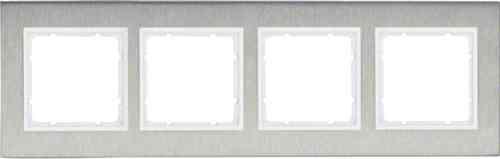 Рамка четверная вертикальная B.7 металл нержавеющая сталь, полярная белизна 10143609