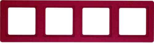 Рамка четверная Q.1. красная с эффектом бархата 10146062
