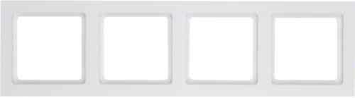 Рамка четверная Q.3 полярная белизна с эффектом бархата 10146099