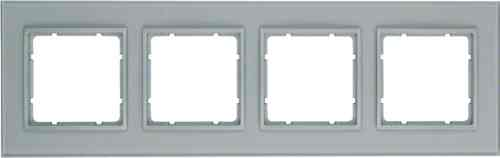 Рамка четверная B.7. стекло алюминий 10146414