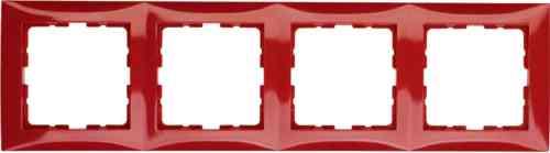 Рамка четверная S.1 красный глянцевый 10148962