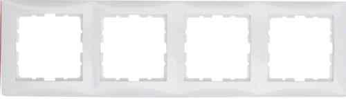 Рамка четверная S.1 полярная белизна с блеском 10148989