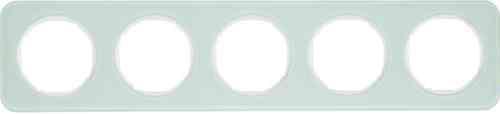 Рамка 5 местная стекляная, Berker R1, полярный белый, 10152109
