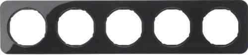 Рамка 5 местная, Berker R1, черная, 10152145