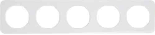 Рамка 5 местная, Berker R1, полярная белизна, 10152189