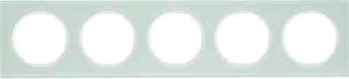 Рамка 5 местная стекляная, Berker R3, 10152209