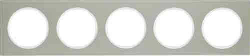 Рамка 5 местная нержавеющая сталь, Berker R3, 10152214
