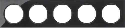 Рамка 5 местная, Berker R3, черная, 10152245