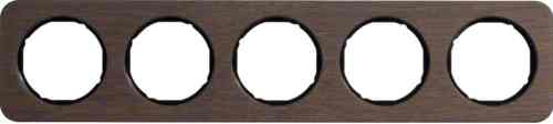 Рамка пятерная R1, дерево черная вкладка, 10152354