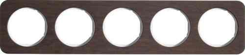 Рамка пятерная R1, дерево белая вкладка, 10152359