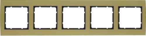 Рамкa пятерная B.3, алюминевая, золото/антрацит 10153016