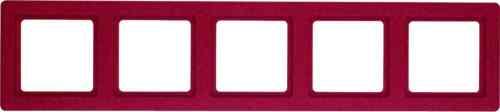 Рамка пятерная Q.1. красная с эффектом бархата 10156062