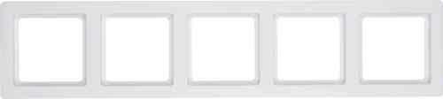 Рамка пятерная Q.1. полярная белизна с эффектом бархата 10156089