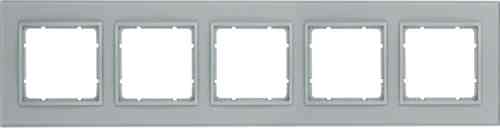 Рамка пятерная B.7. стекло алюминий 10156414