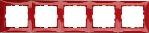 Рамка пятерная S.1 красный глянцевый 10158962