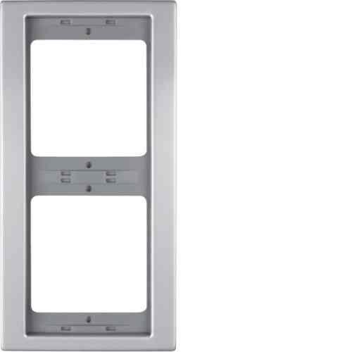 Рамка двухместная вертикальная K.5 металл алюминий 13237003