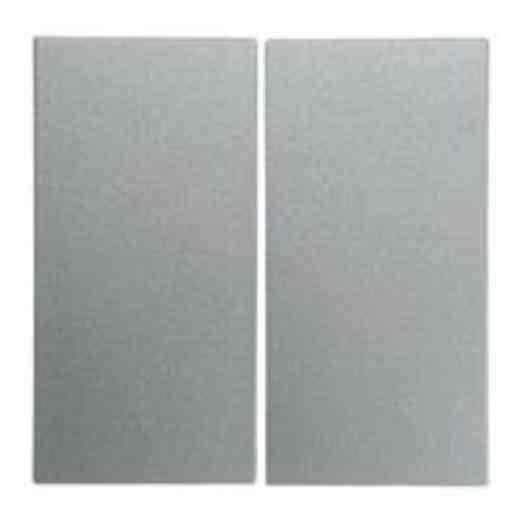 Выключатель двухклавишный, алюминий 16231404 + 3035