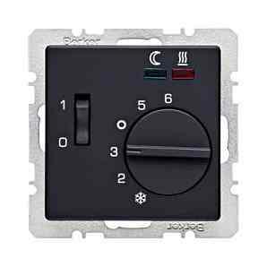 Терморегулятор теплого пола с датчиком пола, антрацит 16726086 + FRe 525 22