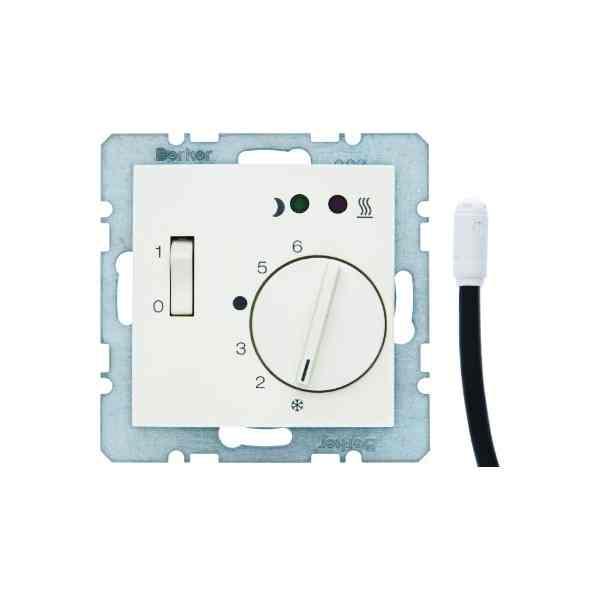 Терморегулятор теплого пола с датчиком пола, белый глянцевый 16728989 + FRe 525 22