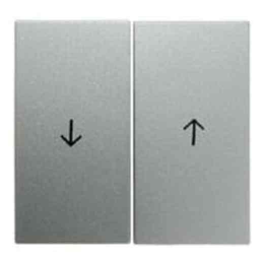 Выключатель управления жалюзи клавишный, алюминий 303520 + 16251404