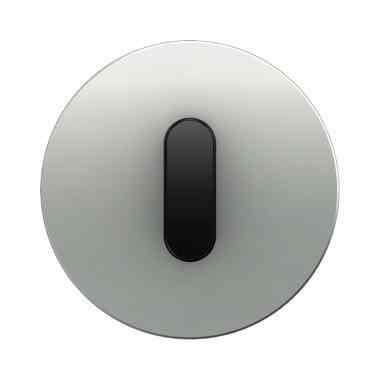 Поворотный выключатель-переключатель Berker R.classic алюминий/черный 387600 + 10012084