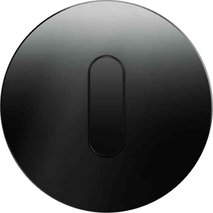 Поворотный выключатель перекрестный Berker R.classic черный глянцевый 387700 + 10012045