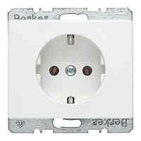 Розетка с заземляющими контактами, белый глянцевый 47150069, , Гарантия:: 12 месяцев, Тип товара:: Розетка электрические, Единицы измерения:: шт