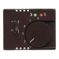 Термостат 230 В~ 10А с выносным датчиком для электрического подогрева пола механизм Eberle, коричневый глянцевый FRe 525 22 + 16720001