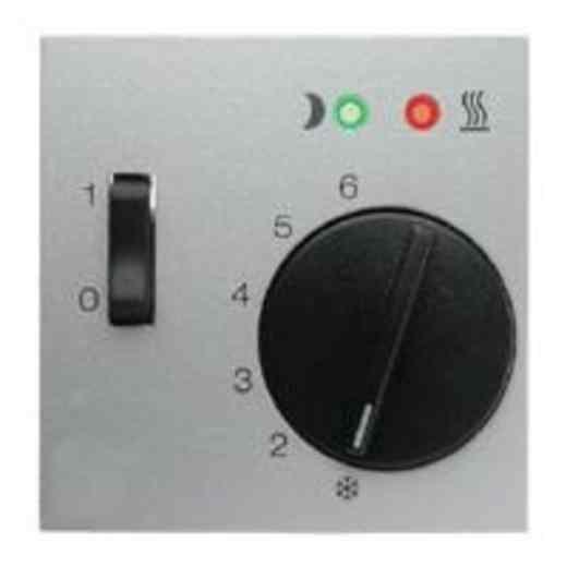 Термостат 230 В~ 10А с выносным датчиком для электрического подогрева пола механизм Eberle, алюминий FRe 525 22 + 16721404